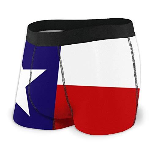 Lawenp Calzoncillos Tipo bóxer para Hombre con Bandera de Texas, Ropa Interior Ultra Suave para Hombre