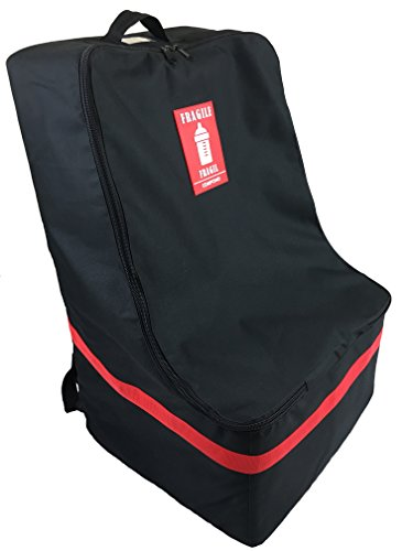 COMPONO Padded Car Seat Backpack (Black with Red Trim)