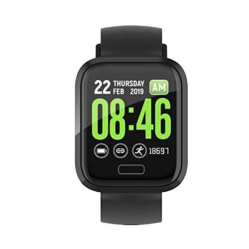 Monitoreo de sueño de Reloj Inteligente/recordatorio sedentario/recordatorio de Llamadas, presión Arterial, Soporte de Ritmo cardíaco, Relojes Sassy envejecidos, Reloj de 1,3 Pulgadas ECG Sassy