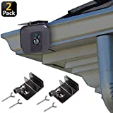 [Upgraded Version] Gutter Mount for Blink XT & Blink XT2 Outdoor Camera, Best Viewing Angle for Your Blink XT Camera, Weatherproof Aluminum Alloy Material (2 Pack, Black)