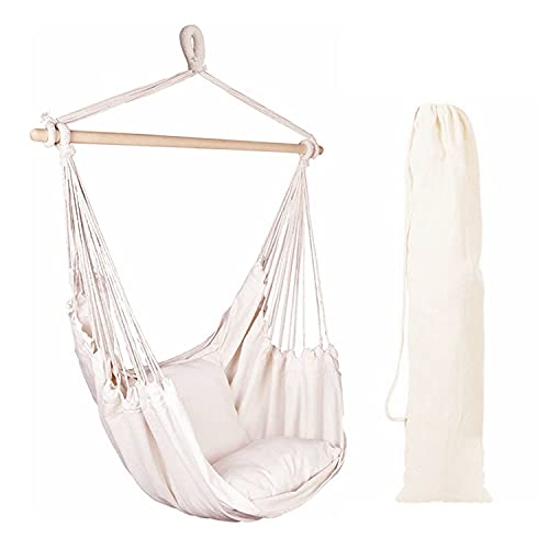 Product Image of the EverKing Hanging Rope Hammock Chair Porch Swing Seat, Large Hammock Net Chair...