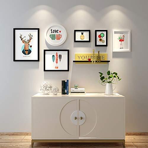WANGXINQUAN Dormitorio Foto de la Pared Marco combinación decoración de la Pared de Fotos Marco de pórtico de la Sala Pared Pintura