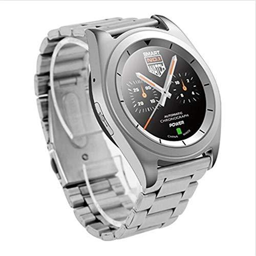 KDSFJIKUYB Smartwatch G6 Mode Sport Bluetooth Smart Watch Frau Mann läuft Smartwatch mit Pulsmesser für Android ISO Phone, Silber Stahl