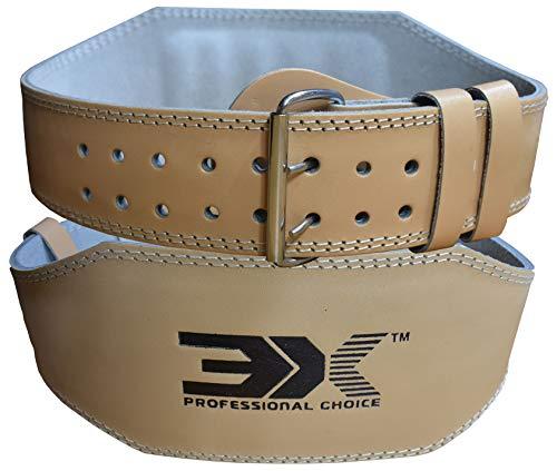 "3X Professional Choice Cuoio Sollevamento Pesi 4\"" Cintura Pesistica Fitness Bodybuilding Schiena Palestra Allenamento"