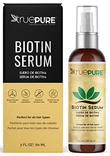 TruePure Biotin Serum With BioPure Complex - Natural, Unscented Leave-In Hair & Scalp Treatment Formula For Healthy Hair Growth & Hair Loss Prevention