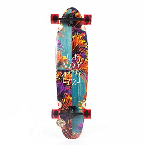 Landyachtz Maple Ripper Tropic Nights Floral Longboard Skateboard 2017...