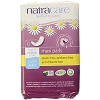 Natracare Natural Maxi Pad Súper -  Compresas naturales, 12 Unidades