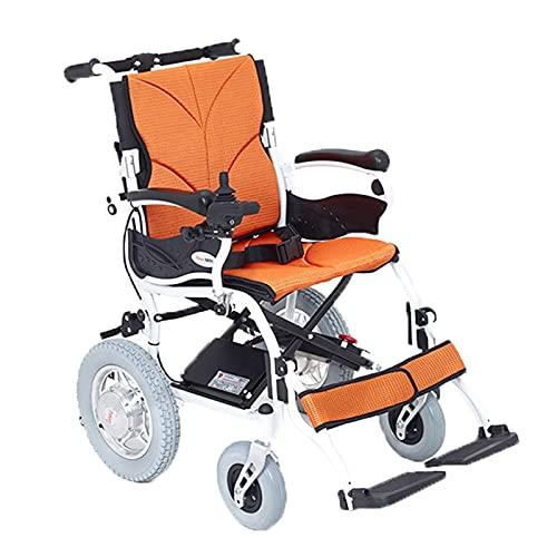 LFLLFLLFL Luxus-elektrischer Rollstuhl, Elektrische Faltbare Einhändige Hochkapazität Batterie Starke Macht Verschleißfeste Universal-Rad-Rutschfester Pedal
