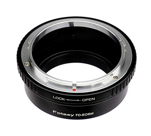 Fotasy Canon FD Lens to Canon EF-M Mount Mirrorless Adapter, FD EOS M Adapter, fits Canon EF M Mirrorless Cameras M1 M2 M3 M5 M6 M6 Mark II M10 M50 M100 M200 (Not for Canon EF EF-S Mount DSLR)