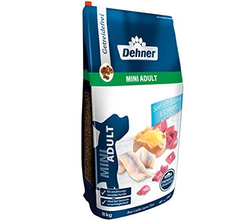 Dehner Premium Hundetrockenfutter Mini Adult, Seefisch und Lamm mit Kartoffel, 8 kg