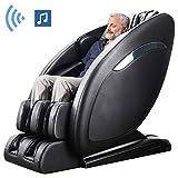 Ootori SL-Track Massage Chair, Yoga Strength 3D Robert Zero Gravity Full Body Shiatsu Massage Recliner Chair with Heating&3-Row-Footroller,Bluetooth,Black