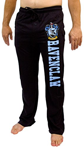 Hot Topic Harry Potter Ravenclaw House Sleep Pants Black (X-Large)