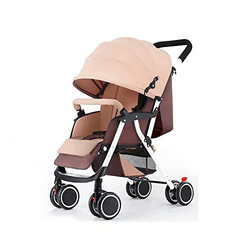 ZG Sedie e passeggini Baby Pus - GZ Coprigambe Pieghevole per Passeggino Leggero con Ruote Grandi dalla Nascita a 25 kg di Melange Carbone Kaki