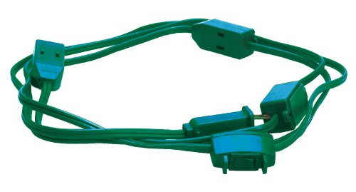 Woods Extension Cord For Christmas Or Holiday Lights With 9 Outlets For Indoors (15 Ft, Green)