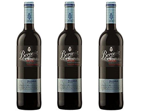 Beronia Reserva Mazuelo - Vino D.O.Ca. Rioja - 3 botellas x 750 ml - Total: 2250 ml