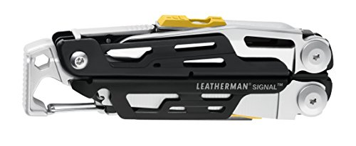 LEATHERMAN - Signal Camping Multitool with Fire Starter, Hammer, and Emergency Whistle, Stainless Steel with Nylon Sheath (FFP)