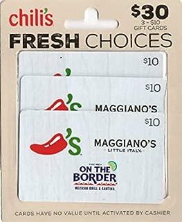 chili's $10 gift card