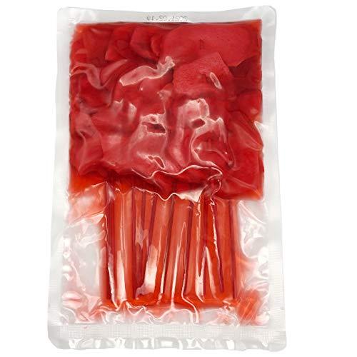 串紅しょうが (10本x10袋) 紅生姜天 紅天 天ぷら 串カツ 紅ショウガ 薄切り 業務用 100本