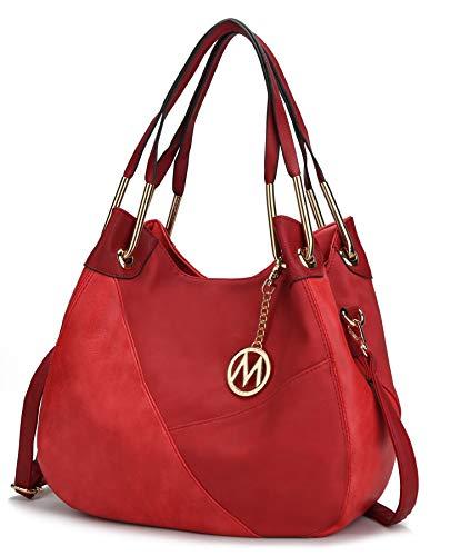 Mia K. Collection Crossbody Hobo Bags for Women - Tote Shoulder Bag Purse PU Leather Top Handle Pocket Book Handbag