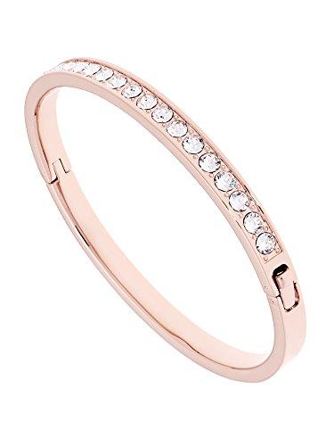 Ted Baker Clemara Swarovski Crystal Bangle, Rose Gold/Clear Crystal