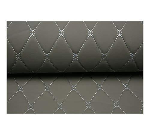 DIY Lederkonzept Kunstleder Polsterstoff Gesteppt Kaschiert Meterware Möbelstoff Dekostoff,Grau (Color : Gray Diamond, Size : 1.43×5m)