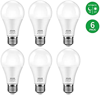 6-Pack Govee 600-lumen Dusk to Dawn LED Bulbs