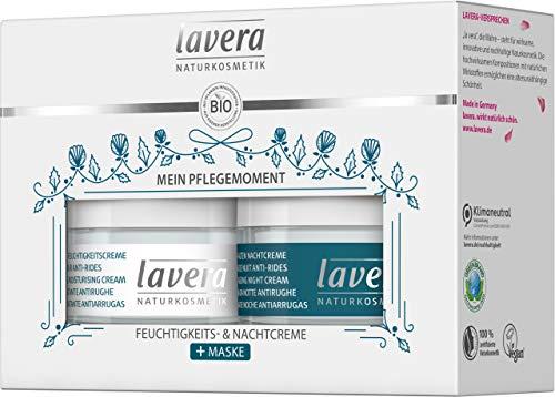 lavera Geschenkset Mein Pflegemoment - enthält 1x basis sensitiv Anti-Falten Feuchtigkeitscreme Q10 (50ml) ✔ Naturkosmetik ✔ vegan ✔ Bio Inhaltsstoffe ✔ Natürlich & Innovativ, 100 ml