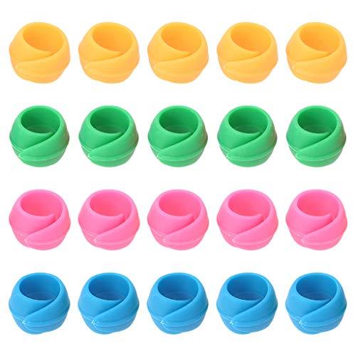 20 piezas para máquina de coser bordado, herramienta para sujetar bobinas para evitar que se desenrollen, sin extremos sueltos.