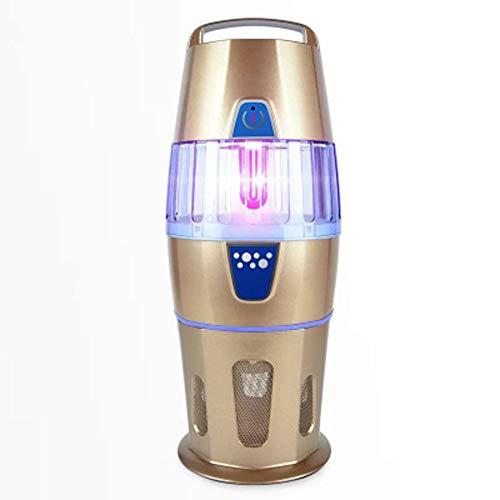 Mosquito Killer Fotocatalizador UV sin radiación Mosquito Bug Zapper Light, Asesino electrónico de insectos, con ventilador incorporado, Zapatería interior con gancho, Hangable-gold