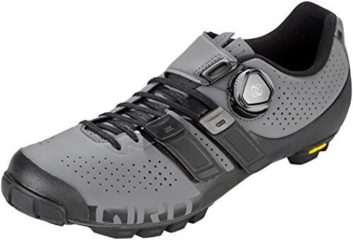 Giro Code Techlace MTB, Zapatos de Bicicleta de montaña Hombre, Multicolor (Dark Shadow/Black 000), 46 EU