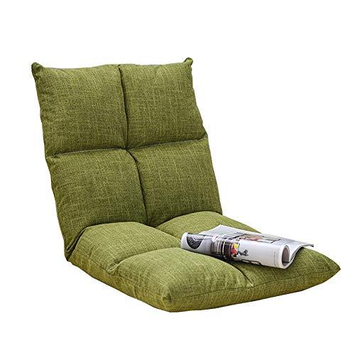 LJFYXZ Canapé Paresseux Chaise Simple Pliable Fauteuil Réglage à 6 Vitesses Facile à enlever et à Laver Chambre dortoir Tapis (Couleur : Green)