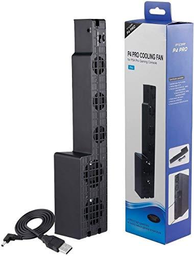Cooler Exaustor 5 Ventoinhas Para Playstation 4 Ps4 Pro