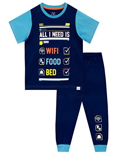 Harry Bear Jungen Schlafanzug W-LAN Blau 158