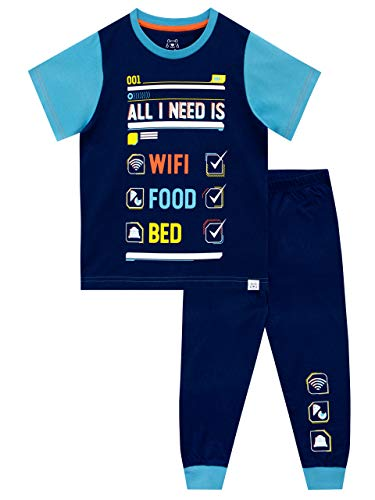 Harry Bear Jungen Schlafanzug W-LAN Blau 146