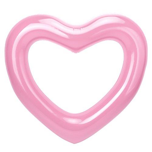HeySplash Anello di Nuoto, Salvagente Galleggiante ad Anello in Formato Cuore, Galleggiante Gonfiabile della Piscina per Adulti & Bambini 47.3' x 39.4'(120cm x 100cm) - Oro Rosa