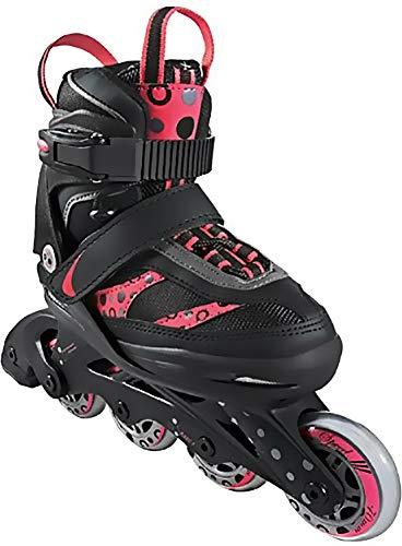 Crivit Sports Kinder Inliner Inline-Skates Softboot (schwarz pink Kreise Gr. 29-33)