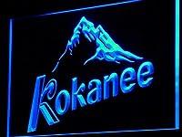Kokanee Beer LED看板 ネオンサイン ライト 電飾 広告用標識 W30cm x H20cm ブルー