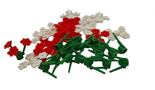 LEGO City–Blumen (20Stück), weiß und rot