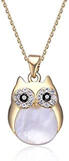 Mestige Gold Plated Professor Owl Charm Necklace for Women