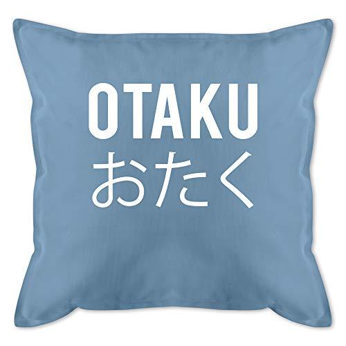 Shirtracer Kissen Hobby - Otaku - weiß - Unisize - Hellblau - Kissen Anime - GURLI Kissen mit Füllung - Kissen 50x50 cm und Dekokissen mit Füllung