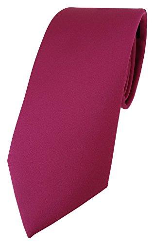 TigerTie TigerTie Designer Krawatte in pink einfarbig Uni - Tie Schlips