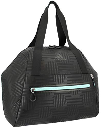 adidas Women's Studio Hybrid Tote, Black Dot Punch Emboss/Black/Easy Green, ONE SIZE