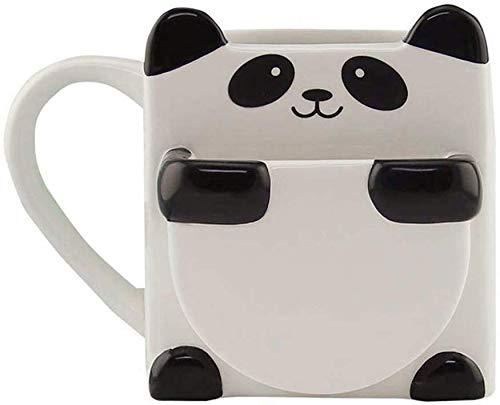 Putuio Panda Tazza Caffè con Biscotto Stand Sostegno Ceramica Tazze Panda Tazza Caffè Casa Ufficio