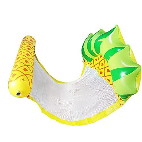 Eaarliyam Schwimmbad aufblasbare Wasserschaukel Swimmingpool schwimmt Spielzeug aufblasbare Liege Ananas Form Ausrüstung