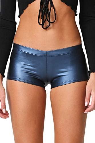 Shiny Copper Shorts Booty Shorts No Stringz
