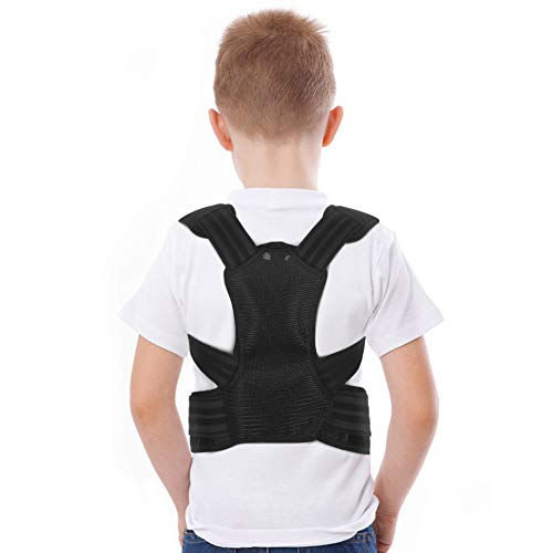 Posture Corrector for Kids, Upper Back Brace Adjustable Back Straighter with Shoulder Pads for Teenagers to Provide Spinal Support, Improve Posture and Prevent Slouching(L)