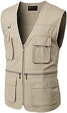 H2H Men's Active Wear Outdoor Vests Work Safari Fishing Travel Utility Summer Vest