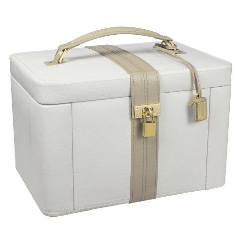 Dulwich Designs - Joyero extra grande de dos tonos, color crema y visón