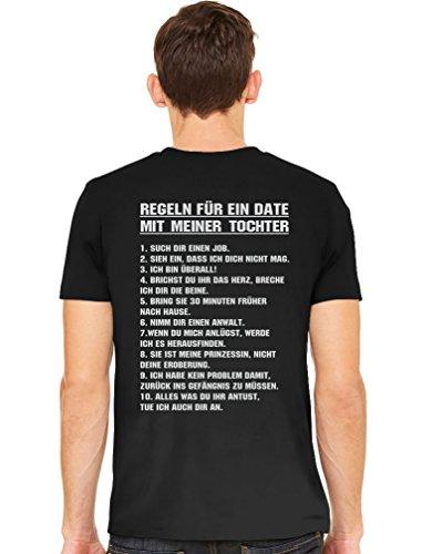 Geschenk für Papa, Beidseitiger Druck - EIN Date mit meiner Tochter Papa Dad Vater Männer Schwarz X-Large T-Shirt
