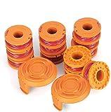 Bobine di filo di ricambio per tosaerba/tagliabordi Worx WA0010 (12 bobine per Worx WA0010), confezione da 14 pezzi
